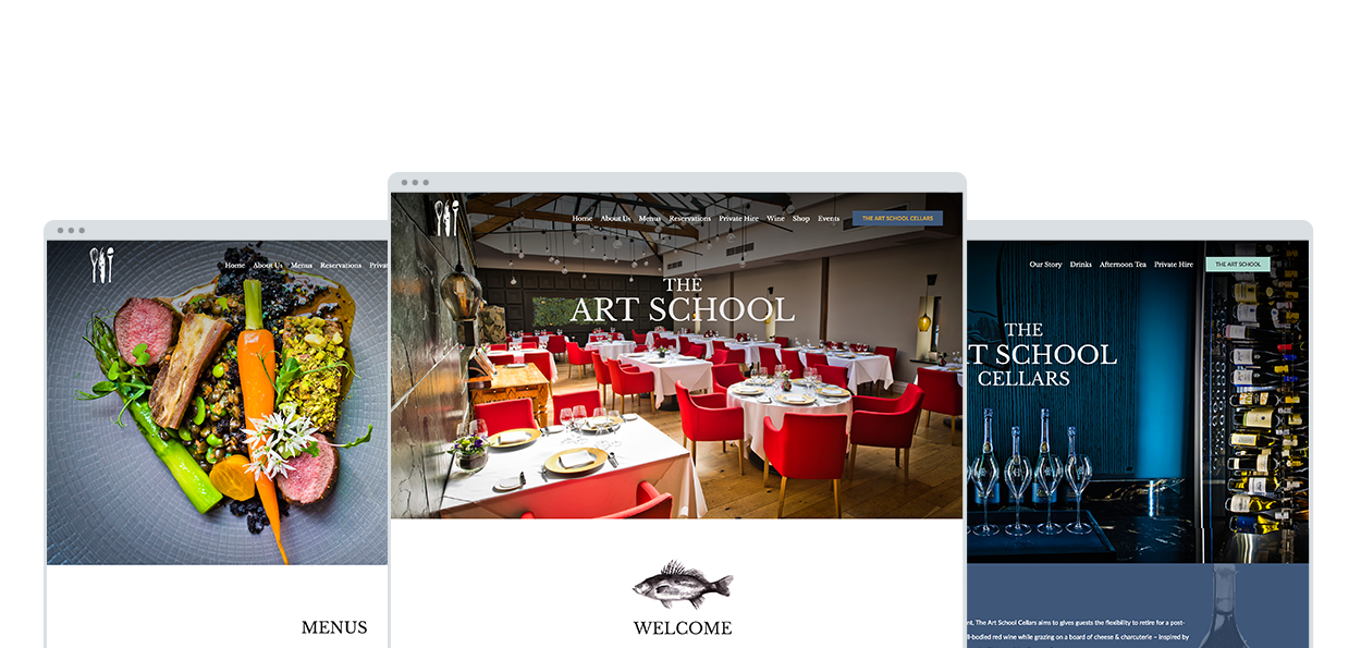 The Art School Restaurant Website Project