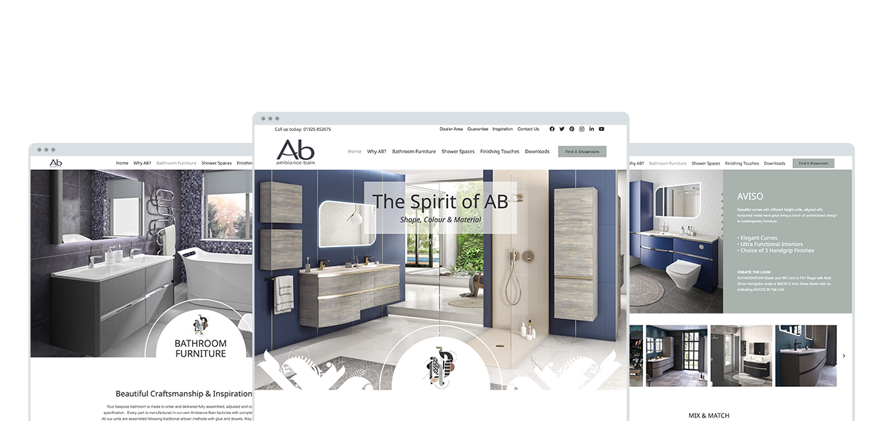 Ambiance Bain Website Design and Development